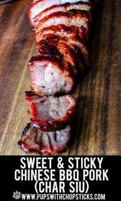 Sweet and Sticky Chinese BBQ Pork (Char Siu) recipe! If you love a juicy, sweet & sticky char siu (Chinese BBQ Pork), try this easy recipe! Delicious char siu is achievable at home in an oven or on a grill! Pork Recipes, Asian Recipes, Cooking Recipes, Recipies, Oriental Recipes, Grill Recipes, Cooking Games, Recipes Dinner, Cocktail Recipes