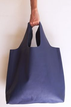 bbb2cdf4f18e Blue Leather Carry All A Bag by GcmF on Etsy
