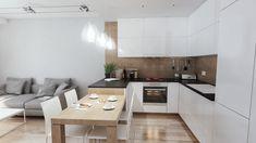 Small Apartment Interior, Small Apartment Design, Interior Design Living Room, Open Plan Kitchen Dining Living, Living Room Kitchen, Home Living Room, Casual Living Rooms, Kitchen Pantry Design, Modern Kitchen Interiors