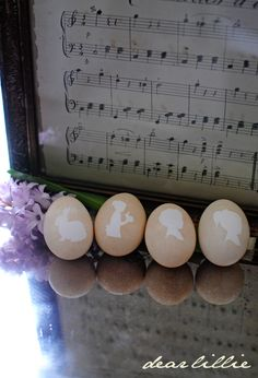 silhouette egg tutorial
