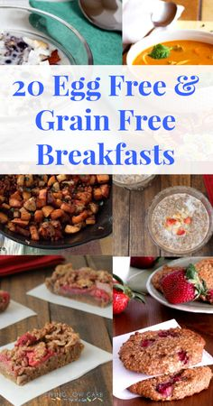 20 Egg Free and Grain Free Breakfast Recipes #grainfree #eggfree #paleo #lowcarb