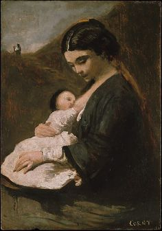 """Mother and Child"" by Camille Corot"