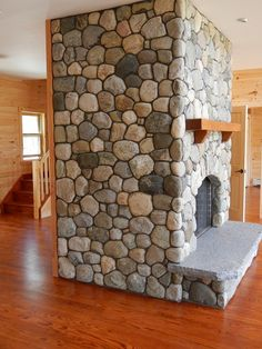 Wonderful Free of Charge Fireplace Hearth stone Thoughts Wood-burning fireplace with granite or stone hearth. , Wood-burning fireplace with granite or stone Fireplace Hearth Stone, Fireplace Facade, River Rock Fireplaces, Wood Burning Fireplace Inserts, Stone Wall Design, House On The Rock, Brick And Stone, Stone Houses, Simple House