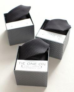 Groomsmen Tie-Box Label Clip Art - Martha Stewart Weddings Wedding Party Gifts