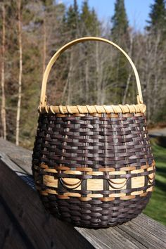 Stonefly Basket by BlueFrogBasketry on Etsy, $55.00