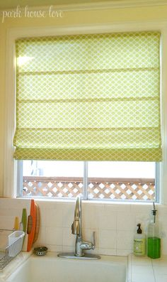 DIY Roman Shade from a Mini Blind