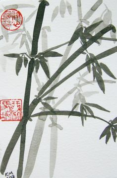 Bamboo- Original Chinese Brush Painting