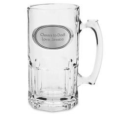 """Let Dad sit back and relax with a cold one this Father's Day. Engrave a message he'll love: """"Cheers to Dad!"""" or """"Super Dad!""""  