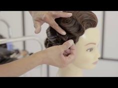 Finger Waves Technique - How To Achieve The Classic Vintage Look - YouTube