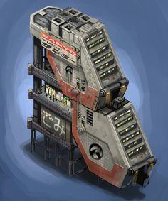 Resultado de imagen de scifi environments buildings