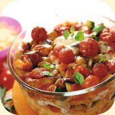 Gemüse-Nudelauflauf mit Hähnchenbrust Rezept