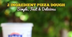 2 Ingredient Pizza Dough. Yes, it is possible. The recipe is simple and delicious. It's perfect for a weeknight pizza and I have a ton of pizza ideas. Savory pizzas, bread sticks and dessert pizzas. You are going to love it!