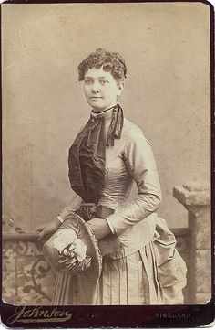 Wilhelmina (Mina) Abigail Mull Crowell, in her wedding dress, 1885