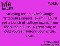 Life hacks - studying                                                                                                                                                                                 More