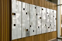 Lower Columbia College Donor Wall by Anderson Krygier, Inc.  Metal veneer and acrylic panels