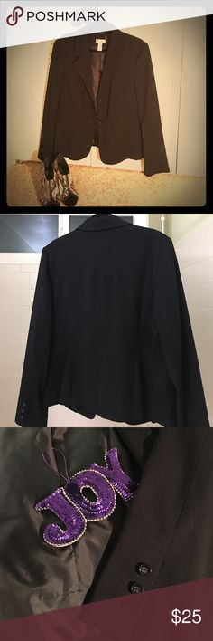 Blazer Black This great black Charter Club blazer is beautifully lined and machine washable. Charter Club Jackets & Coats Blazers