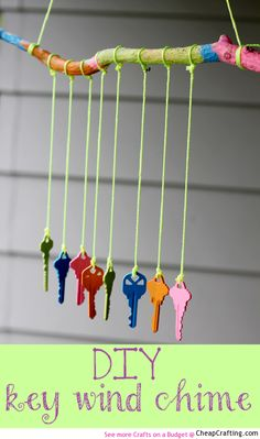 There could be a call for old keys prior to the fair. (A wind theme?) DIY Key Wind Chime