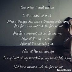 "-- #LyricArt for ""Not For A Moment [After All]"" by Meredith Andrews"