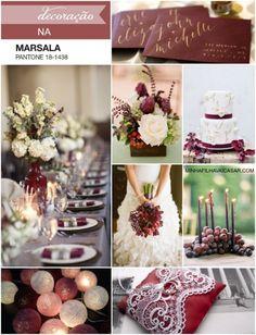 marsala pantone decor wedding casamento inspire minhafilhavaicasar 1