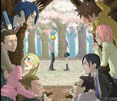 Fans de naruhina esperando pelo momento em q o Naruto deixaria de lerdeza