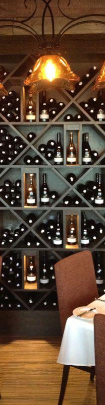closeup wine wall