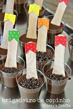 Chocolate Brigadeiro in cups--- MmmmMmmmmmm