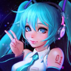 Hatsune Miku - This Illustrator from Russia Makes the Best Anime Avatars on the Internet