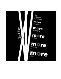 Saul Bass inspired expressive typography by Tina Martin, via Behance