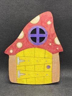 - 6 Wooden Fairy Doors Volume Five - 6 Fairy Doors to decorate Round Rock, Thanks A Bunch, School Play, Fairy Doors, Outdoor Decor, Handmade, Painting, Etsy, People