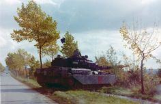 Chieftain moves off road onto farmers field in Germany
