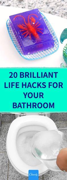 20 Brilliant Life Hacks For Your Bathroom | #cleverly#diy#tips#tricks#hacks#fyi#dyk#tipsandtricks#lifehacks#bathroom #restroom #washroom #wc #watercloset #toilet #shower #tub #bathtub #bathroomhacks Bathroom Hacks, Washroom, Home Hacks, Shower Tub, Lifehacks, Helpful Hints, Toilet, Bathtub, Tips