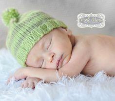 Infant Striped Pom Pom Beanie Hat Baby Boy or by milkmoneybySonia, $16.00