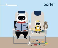 Porter Airlines : Kids Porter Airlines, Mr Porter, Vintage Travel Posters, Airplanes, Toronto, Aviation, Holidays, Illustration, Kids