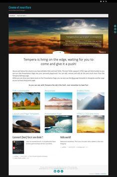 WordPress site chavignol.fr uses the Tempera wordpress template