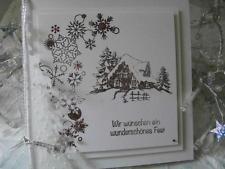 Handgemachte  Karte mit Umschlag - Frohe Weihnachten - Wesołych Świąt