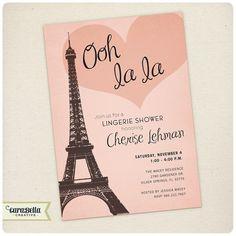 Paris Bridal Shower Invitation Printable by CaraBellaCreative, $16.00