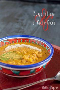 zuppa indiana di ceci e cocco