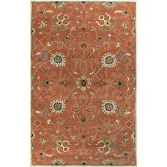 Art of Knot Albi Area Rug, Orange