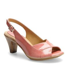 Another great find on #zulily! Coral Naveah Leather Slingback by Softspots #zulilyfinds