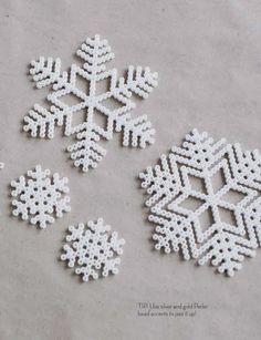 Pearler bead snowflake