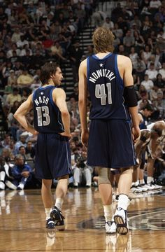 Free agency split Dirk Nowitzki and Steve Nash too soon. I can't help but wonder whether free agency could bring them back together. I Love Basketball, Basketball Pictures, Basketball Players, Basketball Videos, Basketball Legends, Nba Mvps, Mma, National Basketball League, Dallas Sports