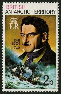 Sello: John Biscoe (Británico Territorio Antártico (BAT)) (Polar Explorers) Mi:GB-AT 48AX,Sn:GB-AT 48