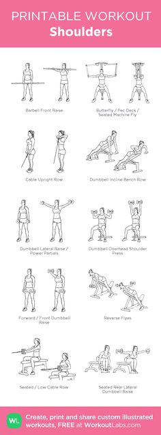 Shoulders Workout | Posted by: CustomWeightLossProgram.com