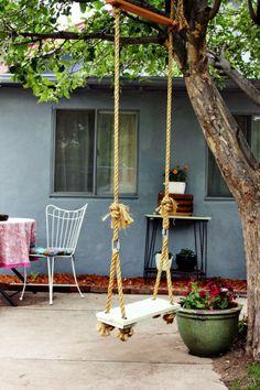 7 Interesting DIY Tree Swing Designs