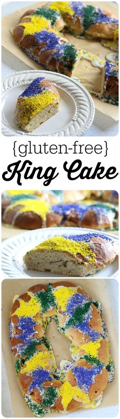 This Gluten Free King Cake is super easy to make and nobody will know the difference!