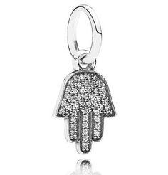 Juwelierwaren: Pandora Anhänger Hand Fatimas Silber mit Zirkonia 791307CZ von DM sonstige Marken