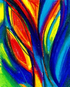 Organic Abstraction ... No.1 ... Original Contemporary oil pastel painting art piece by Kathy Morton Stanion EBSQ. $75.00, via Etsy.
