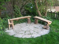 log benches for the fire pit!