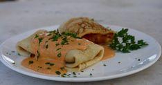 Palacsinta gombával és krumplival töltve recept képpel. Hozzávalók és az elkészítés részletes leírása. A Palacsinta gombával és krumplival töltve elkészítési ideje: 50 perc Waffles, Pancakes, Deserts, Meat, Chicken, Breakfast, Ethnic Recipes, Food, Morning Coffee