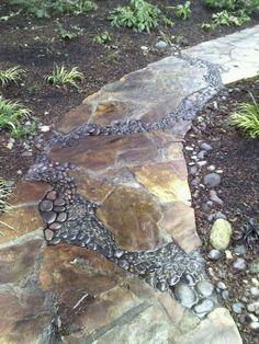32 Natural And Creative Stone Garden Path Ideas Gardenoholic | Gardenoholic